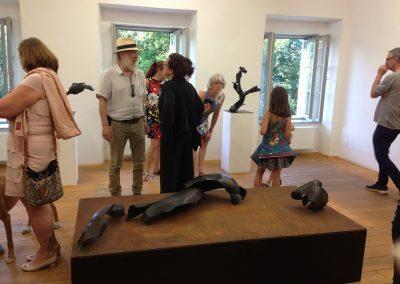 """Die Vernissage Ausstellung """"Florian Schaumberger"""" im Kunstraum Lindenhof wurde ebenfalls gut besucht."""