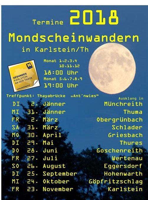 Mondscheinwandern in Karlstein an der Thaya