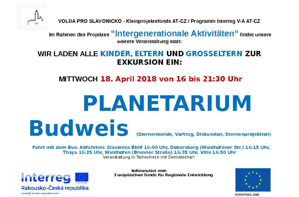 Exkursion ins Planetarium Budweis