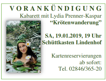 "Kabarett mit Lydia Prenner-Kaspar ""Krötenwanderung"""