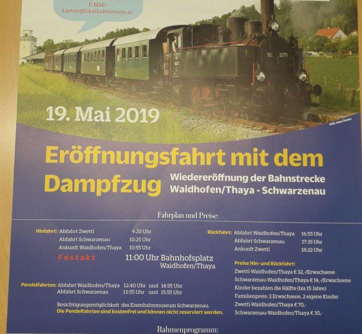 Wiedereröffnung der Bahnstrecke Waidhofen/Thaya – Schwarzenau