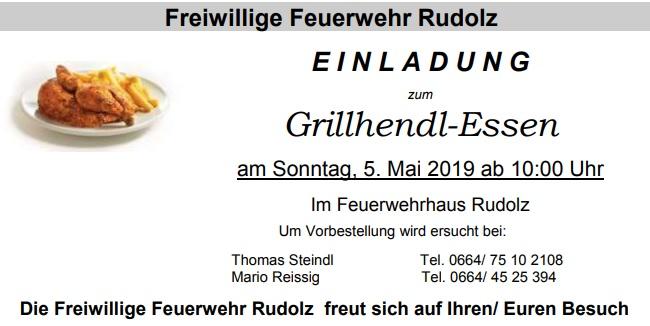 EINLADUNG ZUM GRILLHENDL-ESSEN