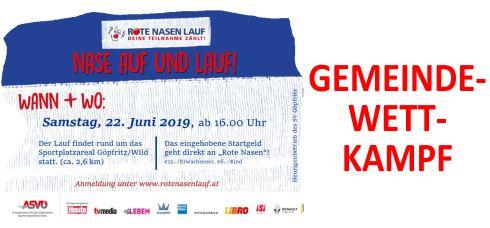 Gemeindewettkampf ROTE NASEN LAUF in GÖPFRITZ