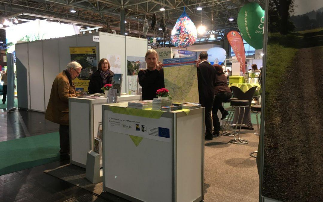 Der Thayarunde-Radweg präsentierte sich auf der Ferienmesse 2020 in Wien
